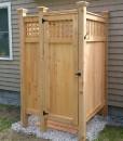 Lattice-Standard-House-Mount-Cedar-shower-kit.Cape-Cod-MA
