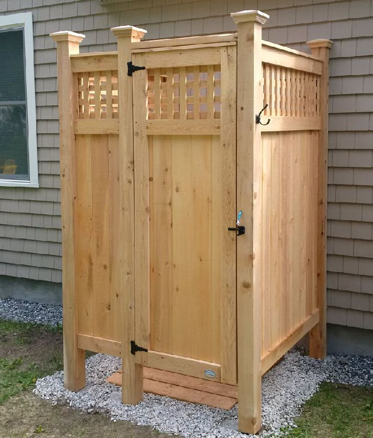 Teak Outdoor Shower Kit