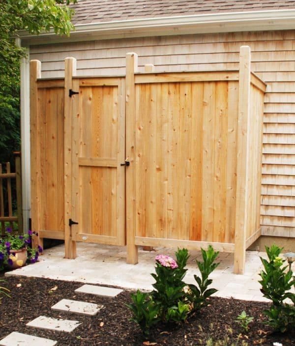 outdoor cedar shower kit deluxe