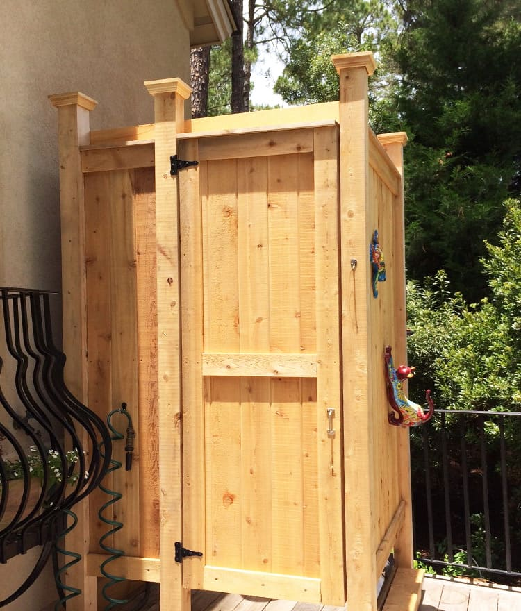 Outdoor Shower Enclosure Company Sc Cedar