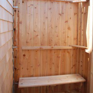 shower bench - cedar