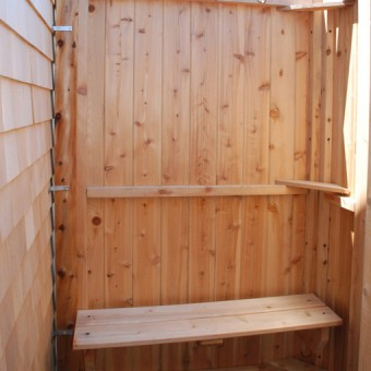 shower bench - cedar