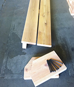 Cedar Shower Bench Pieces