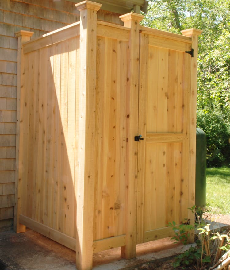outdoor shower kit enclosure cedar ca tx