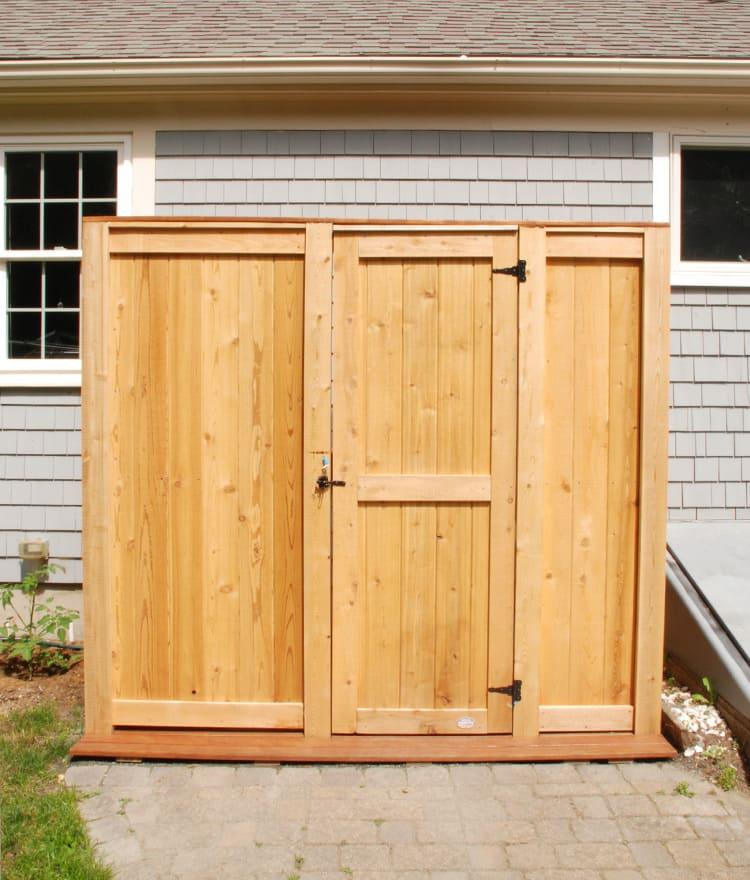 Outdoor Shower Enclosure Cedar Showers Kits Outdoor