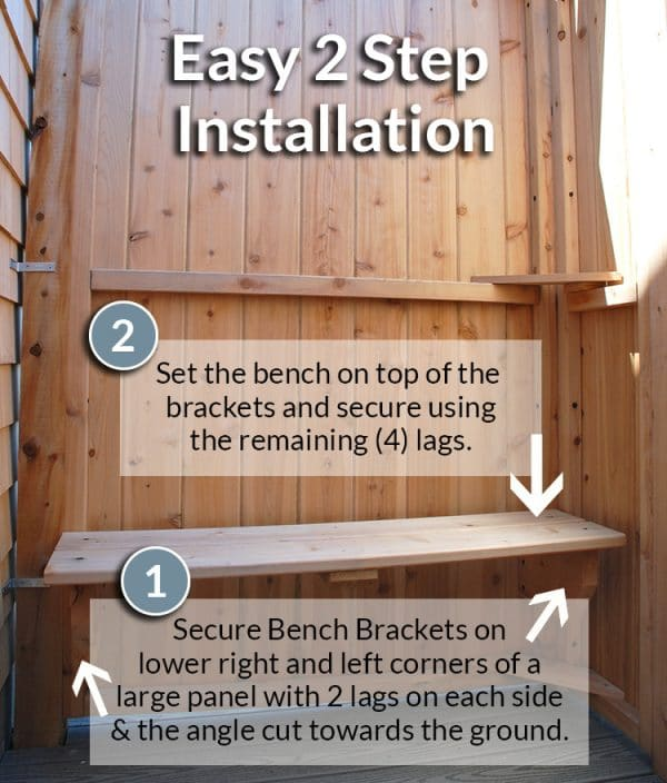 Easy 2 Step Bench Installation