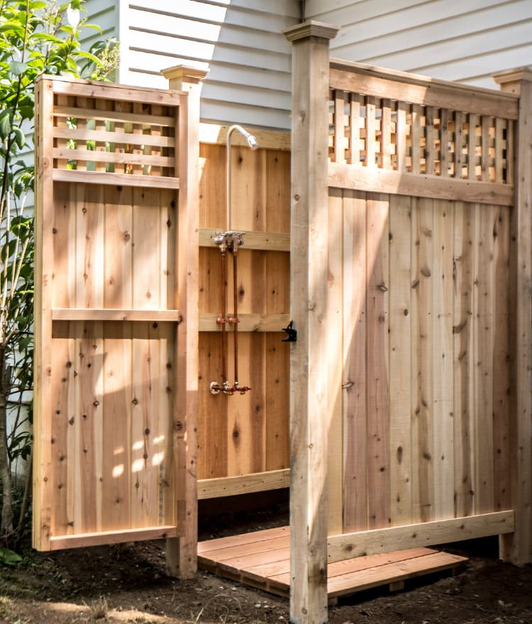 Outdoor Shower Enclosures | Cape Cod Shower Kits