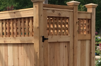 Lattice Paneling Cedar Outdoor Shower Kit