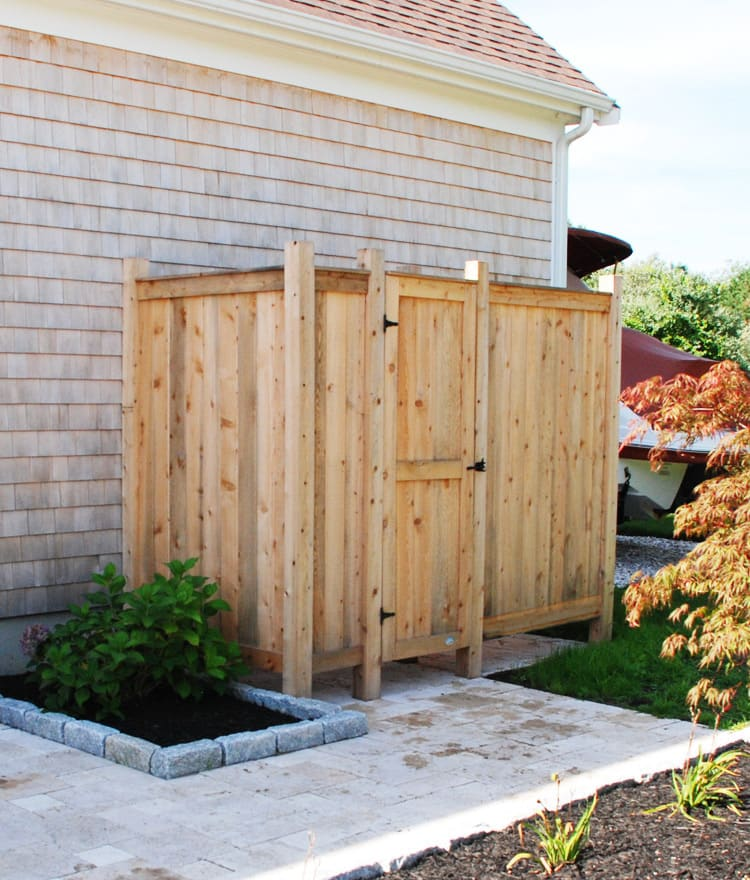 cedar outdoor shower kit long island