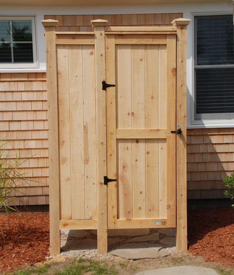 outdoor showers designs cedar