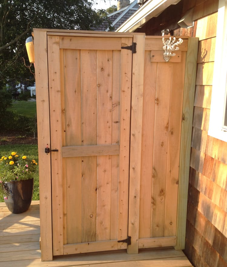 outdoor shower enclosure cedar showers