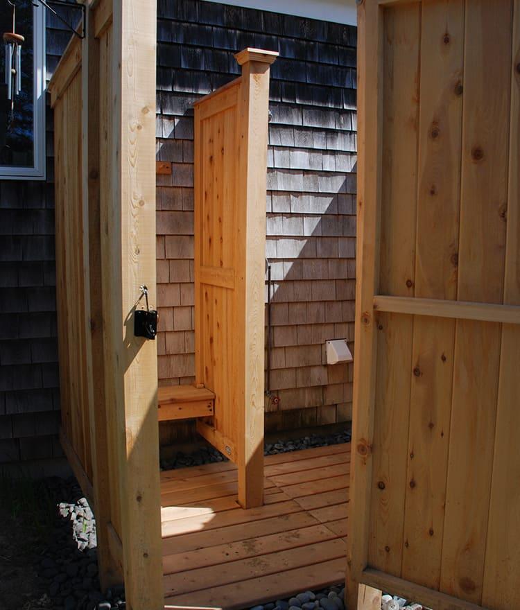 Outdoor Shower Kit Designs Cedar Kit Deep Ny Nj