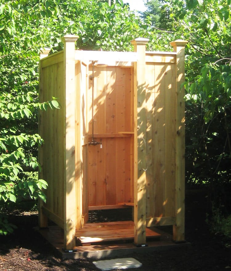 outdoor shower enclosures cape cod shower kits