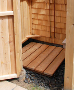 Outdoor Shower Floor Cedar NY