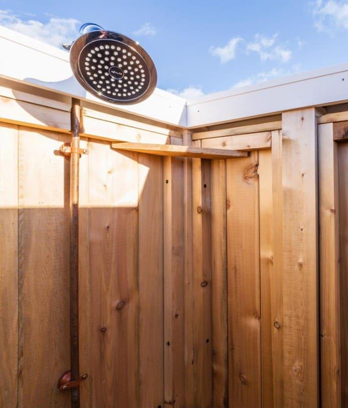 shower head - cedar outdoor shower