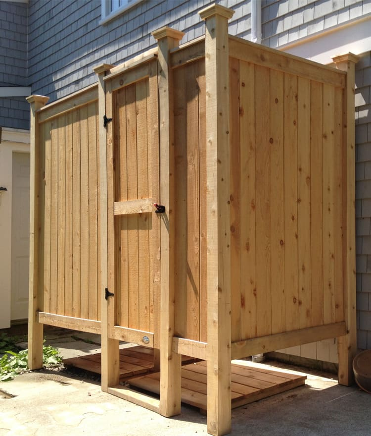 Cedar Outdoor Showers - Made on Cape Cod | CapeCodShowerKits.com