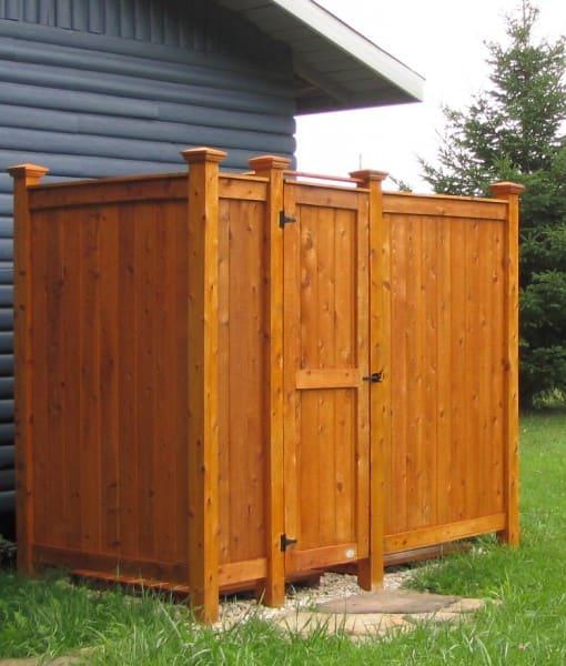 outdoor shower kit ideas standing cedar deluxe