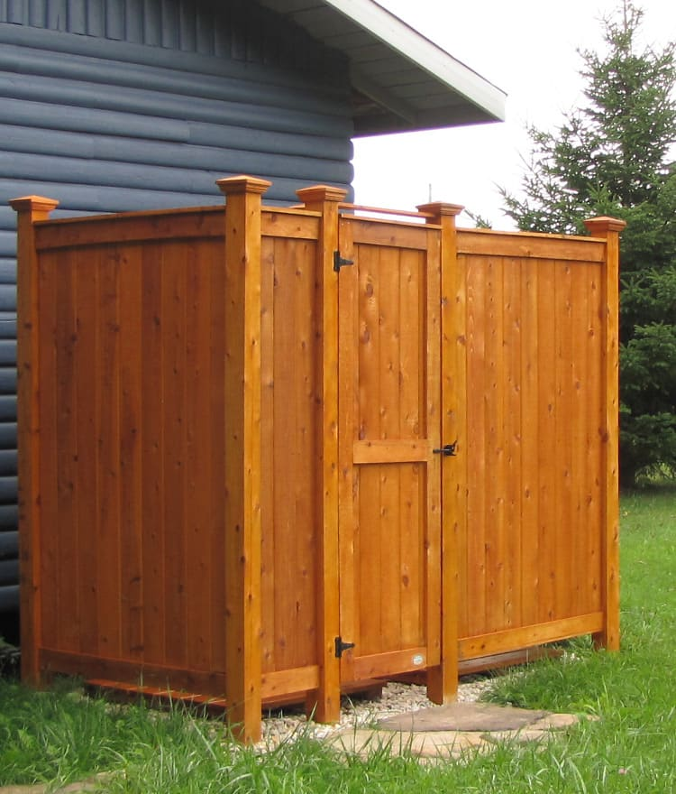 outdoor shower kit ideas standing cedar deluxe