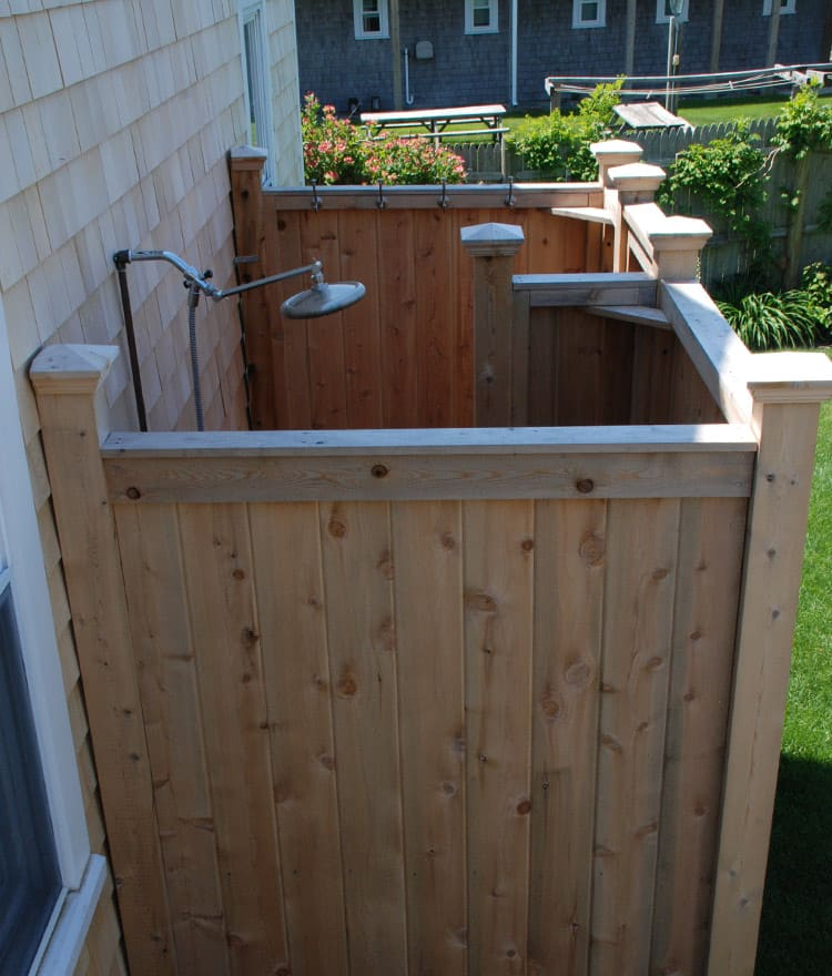 Outdoor Shower Enclosure | Cedar Showers Kits | Outdoor Company
