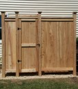 outdoor shower stall