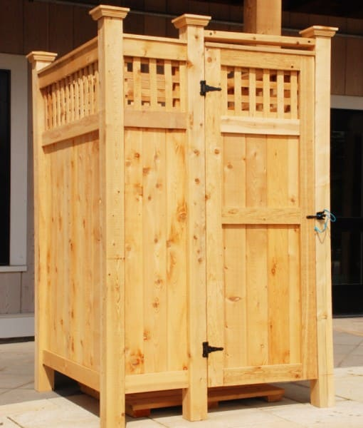 outdoor showers cedar enclosure ct