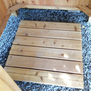 outdoor shower kit cedar floor