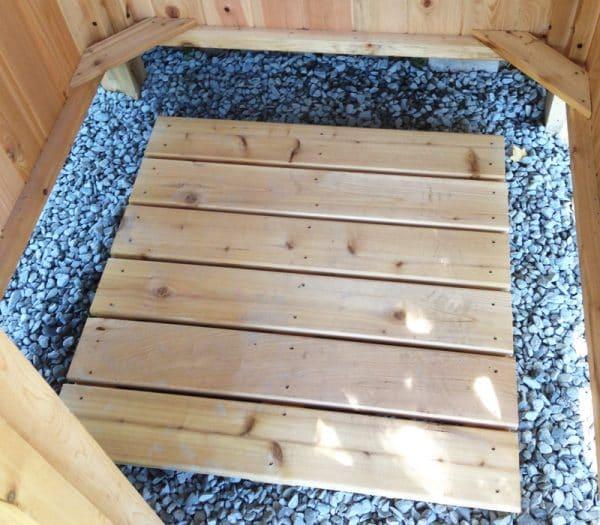 outdoor shower kit cedar floor