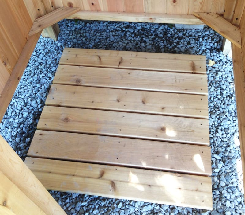 Outdoor Shower Floor Quality Cedar Decking Panel