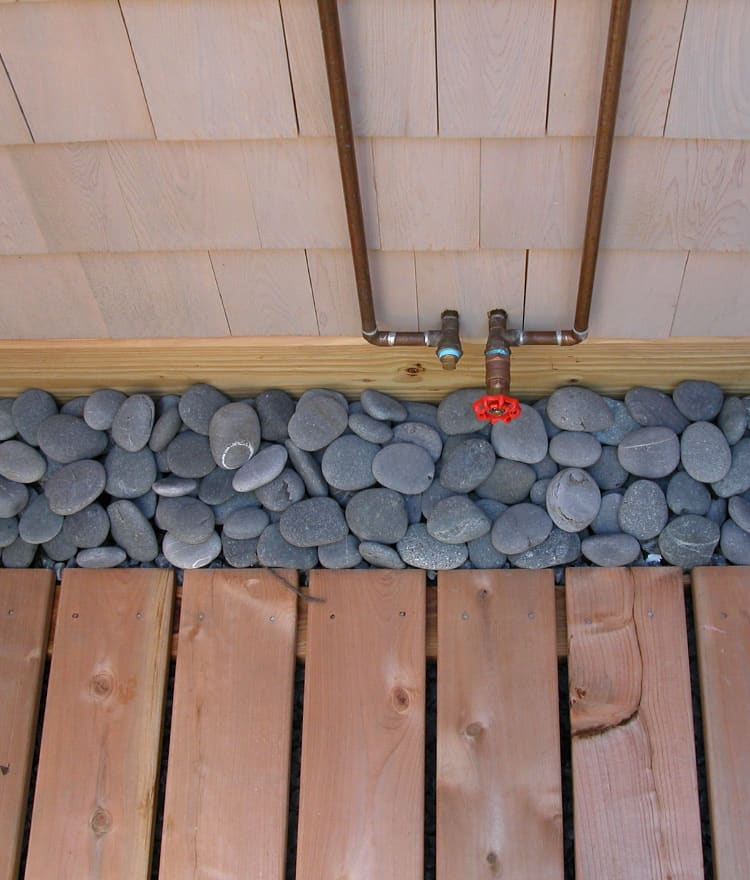 Beach pebbles cape cod outdoor shower kits - How to make an outdoor shower ...