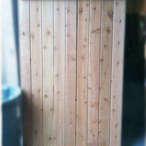 outdoor shower kit large cedar wall