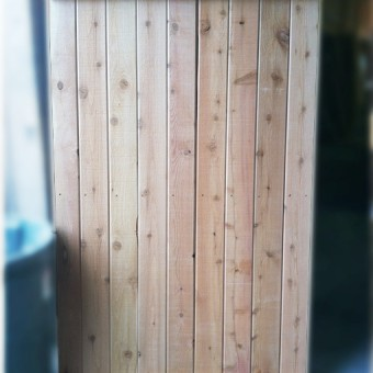 outdoor shower kit large cedar wall