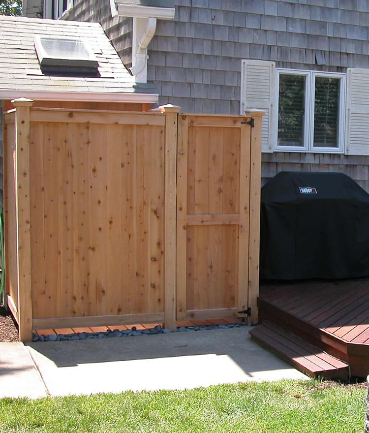 Outdoor Shower Enclosure Kit - Cedar