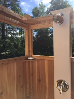 custom outdoor shower enclosures with windows