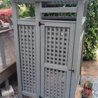 Custom Standard Outdoor Shower Kit Full Lattice Walls