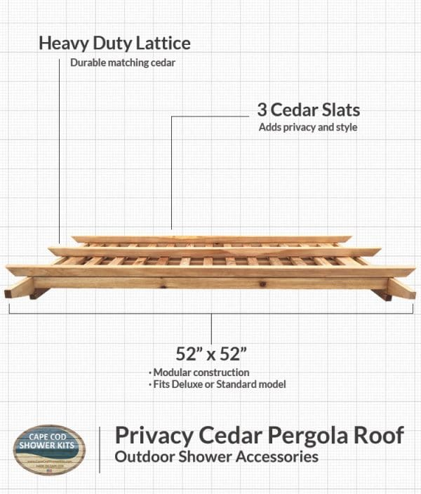 Outdoor Shower Privacy Cedar Pergola Roof