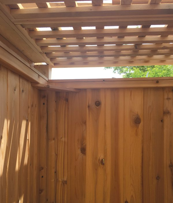 Cedar Pergola Roof Outdoor Shower