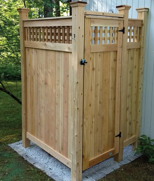 Outdoor House Mount Shower Kit with Lattice