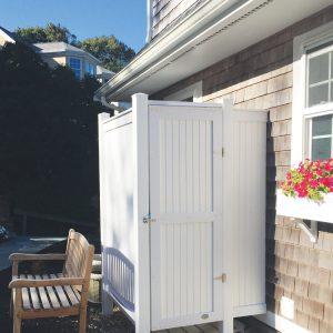 vinyl outdoor shower kits
